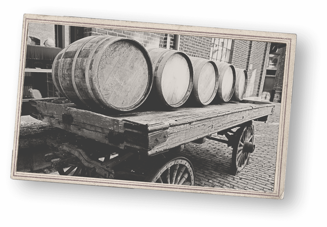 image of a 19th century liquor delivery